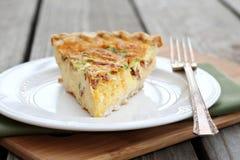 Πίτα ζαμπόν και τυριών Στοκ Εικόνες