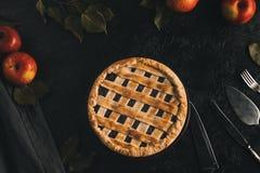 Πίτα και ασημικές της Apple Στοκ φωτογραφία με δικαίωμα ελεύθερης χρήσης