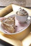 Πίτα και καφές της Apple Στοκ Φωτογραφίες
