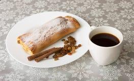 Πίτα και καφές της Apple Στοκ Φωτογραφία