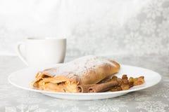Πίτα και καφές της Apple Στοκ φωτογραφίες με δικαίωμα ελεύθερης χρήσης