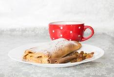 Πίτα και καφές της Apple Στοκ Εικόνα