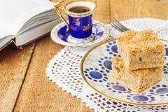 Πίτα και καφές της Apple Στοκ εικόνα με δικαίωμα ελεύθερης χρήσης