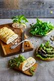Πίτα και λαχανικά ψαριών Στοκ εικόνες με δικαίωμα ελεύθερης χρήσης