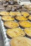 Πίτα και μέλι της Apple Στοκ Εικόνες