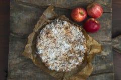 Πίτα και μήλα της Apple Στοκ εικόνα με δικαίωμα ελεύθερης χρήσης