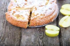 Πίτα και μήλα της Apple Στοκ Φωτογραφία