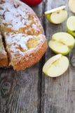 Πίτα και μήλα της Apple Στοκ Εικόνες