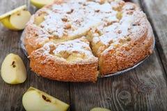 Πίτα και μήλα της Apple Στοκ Φωτογραφίες