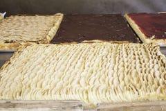 Πίτα και σοκολάτα της Apple Στοκ Εικόνες