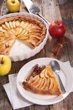 Πίτα και φέτα της Apple Στοκ Εικόνες