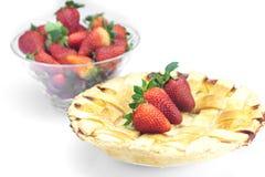 Πίτα και φράουλες Στοκ Φωτογραφία