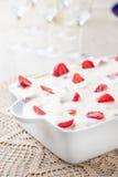 Πίτα και φράουλες κρέμας Στοκ Εικόνα