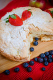 Πίτα και φρούτα της Apple Στοκ Εικόνες