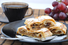 πίτα καφέ μήλων Στοκ εικόνες με δικαίωμα ελεύθερης χρήσης