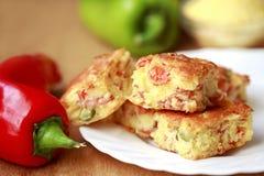 Πίτα καλαμποκιού με την πάπρικα στοκ εικόνες με δικαίωμα ελεύθερης χρήσης