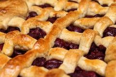 Πίτα κερασιών - γλυκά κέικ Κέικ μαρμελάδας Ουγγρικά τρόφιμα Στοκ Εικόνα