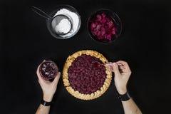 Πίτα κερασιών Στοκ Εικόνα