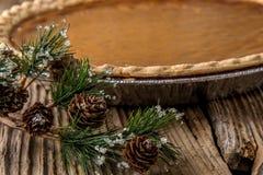Πίτα κολοκύθας διακοπών Homestyle Στοκ Φωτογραφίες