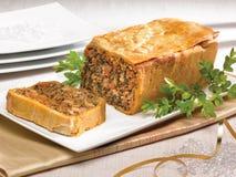 Πίτα κρέατος σπανακιού Στοκ φωτογραφία με δικαίωμα ελεύθερης χρήσης