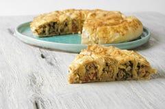 Πίτα κρέατος Burek, Borek, Burekas, τουρκική και βαλκανική κουζίνα Στοκ εικόνες με δικαίωμα ελεύθερης χρήσης