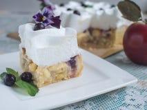 πίτα κρέμας μήλων Στοκ Εικόνες