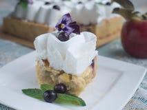 πίτα κρέμας μήλων Στοκ φωτογραφίες με δικαίωμα ελεύθερης χρήσης