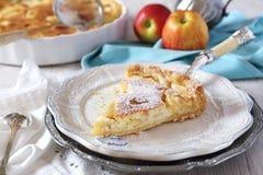 πίτα κρέμας μήλων Στοκ Φωτογραφία