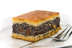 Πίτα κρέμας παπαρουνών με την κρούστα μελιού στοκ εικόνα με δικαίωμα ελεύθερης χρήσης