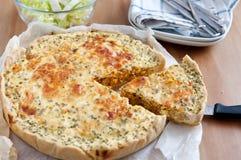 Πίτα Λωρραίνη με την κολοκύθα Στοκ εικόνα με δικαίωμα ελεύθερης χρήσης