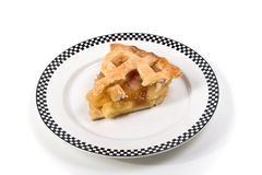 Πίτα μήλων που απομονώνεται σε ένα πιάτο Στοκ Εικόνες
