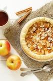 Πίτα μήλων με την κανέλα Στοκ Φωτογραφία