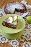 Πίτα μήλων με την κανέλα Στοκ Εικόνα