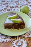 Πίτα μήλων με την κανέλα Στοκ Εικόνες