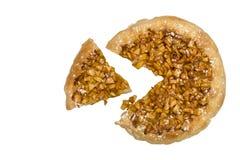 Πίτα μήλων σε έναν ξύλινο πίνακα που απομονώνεται Στοκ Εικόνες