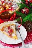 Πίτα μήλων Χριστουγέννων Στοκ Εικόνα