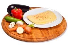 Πίτα με τα λαχανικά Στοκ Φωτογραφίες