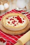 Πίτα με την κόκκινη σταφίδα και το τυρί εξοχικών σπιτιών Στοκ Εικόνες