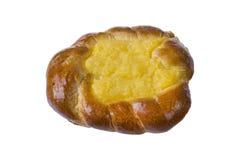 Πίτα με τη βανίλια στο άσπρο υπόβαθρο Στοκ φωτογραφίες με δικαίωμα ελεύθερης χρήσης