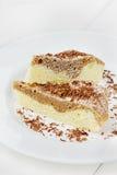 Πίτα με το ξύρισμα ζάχαρης και σοκολάτας τήξης Στοκ φωτογραφία με δικαίωμα ελεύθερης χρήσης