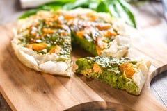 Πίτα με το σολομό στοκ φωτογραφίες με δικαίωμα ελεύθερης χρήσης