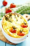 Πίτα με το σπαράγγι και την ντομάτα Στοκ φωτογραφίες με δικαίωμα ελεύθερης χρήσης