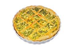 Πίτα με το τυρί και τα χορτάρια Στοκ Φωτογραφίες