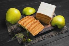 πίτα μπισκότων μήλων Στοκ εικόνα με δικαίωμα ελεύθερης χρήσης