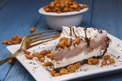 Πίτα παγωτού με τα φυστίκια Στοκ φωτογραφία με δικαίωμα ελεύθερης χρήσης