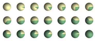 πίτα ποσοστού γραφικής πα&r απεικόνιση αποθεμάτων