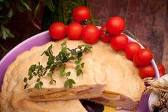 πίτα που γεμίζεται ιταλική Στοκ Φωτογραφίες