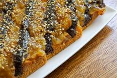 πίτα ροδάκινων Στοκ φωτογραφία με δικαίωμα ελεύθερης χρήσης