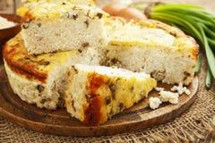 Πίτα ρυζιού με το τυρί εξοχικών σπιτιών Στοκ φωτογραφία με δικαίωμα ελεύθερης χρήσης