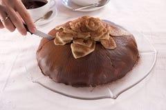 πίτα σοκολάτας Στοκ φωτογραφίες με δικαίωμα ελεύθερης χρήσης